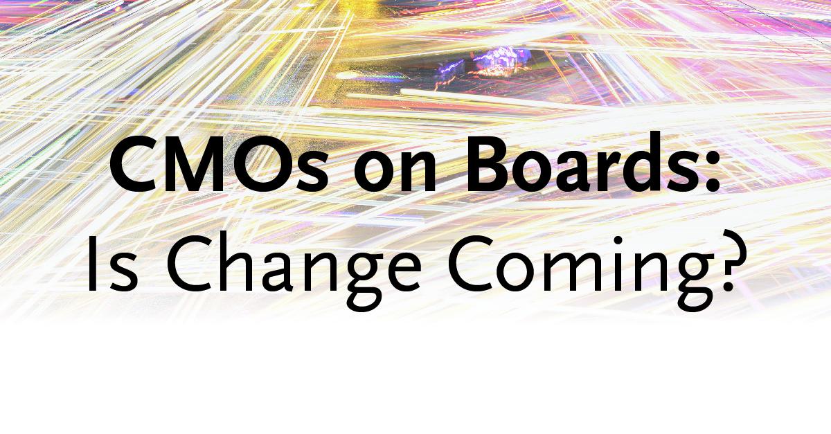 CMOs on Boards | Spencer Stuart