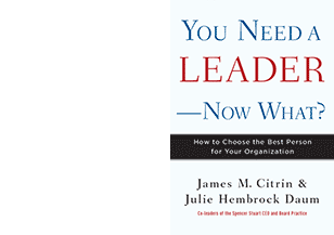 You Need a Leader - Now What?